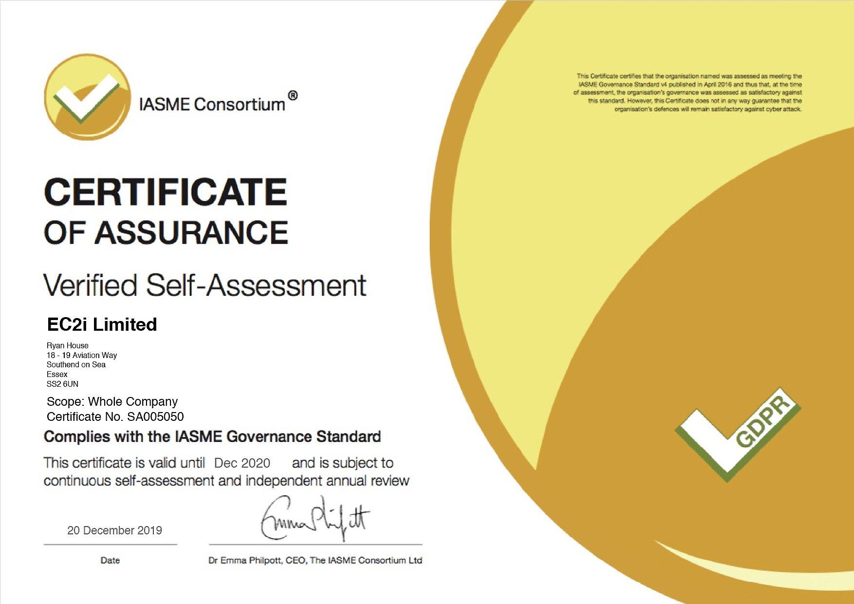 IASME_Certificate