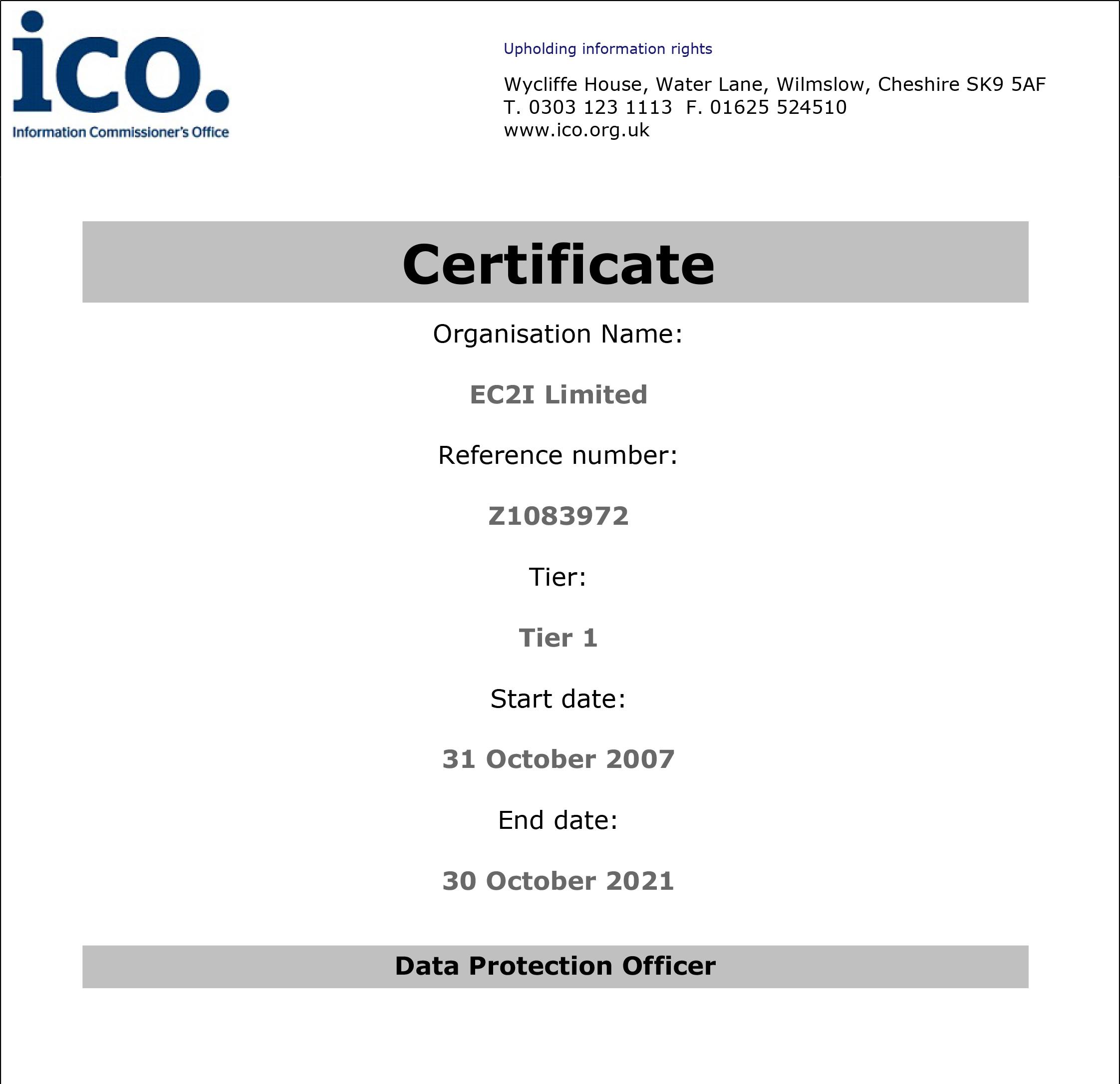 ICO Registration Certificate 2021-1